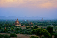 Temples of Bagan at Dusk